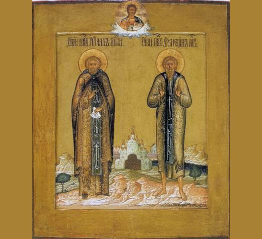 3 августа. Прпп. Симеона, Христа ради юродивого, и Иоанна, спостника его (ок. 590)